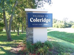 Coleridge Welcome Sign