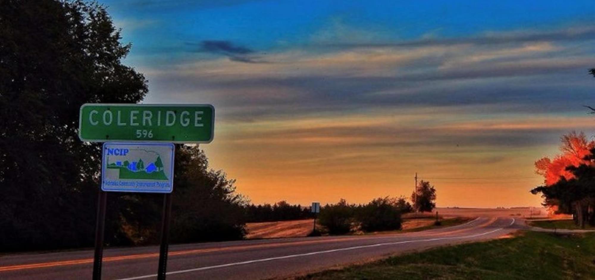 Coleridge Population Sign