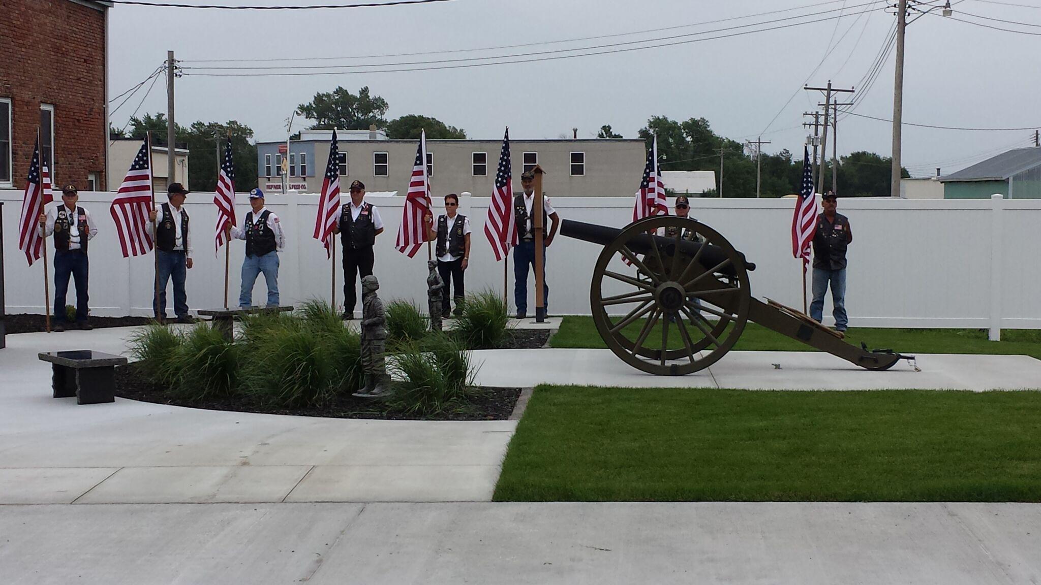 Memorial Flags Dedication